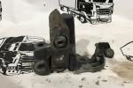 Опорная стойка качалки кабины (кронштейн торсиона) лев. Scania P 2010 1728140